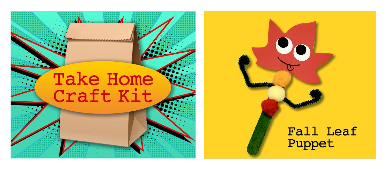 2021 September Take Home Craft Kit: Fall Leaf Puppet